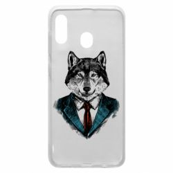 Чехол для Samsung A30 Wolf in costume