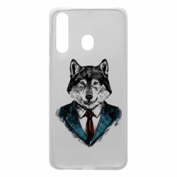 Чехол для Samsung A60 Wolf in costume