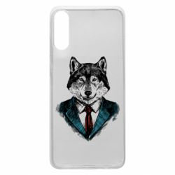 Чехол для Samsung A70 Wolf in costume