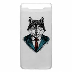 Чехол для Samsung A80 Wolf in costume