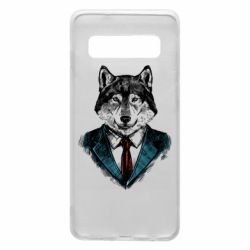 Чехол для Samsung S10 Wolf in costume