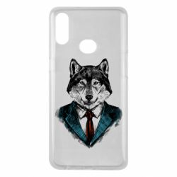 Чехол для Samsung A10s Wolf in costume