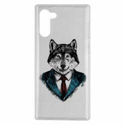 Чехол для Samsung Note 10 Wolf in costume
