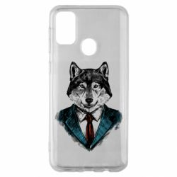 Чехол для Samsung M30s Wolf in costume