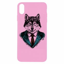 Чехол для iPhone X/Xs Wolf in costume