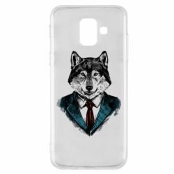 Чехол для Samsung A6 2018 Wolf in costume