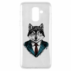 Чехол для Samsung A6+ 2018 Wolf in costume