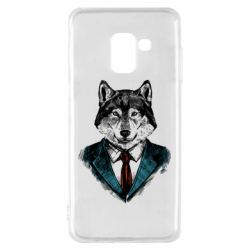Чехол для Samsung A8 2018 Wolf in costume