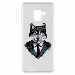 Чехол для Samsung A8+ 2018 Wolf in costume