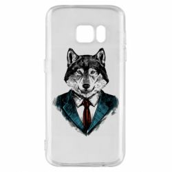 Чехол для Samsung S7 Wolf in costume