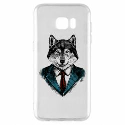 Чехол для Samsung S7 EDGE Wolf in costume
