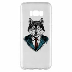Чехол для Samsung S8+ Wolf in costume