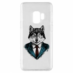 Чехол для Samsung S9 Wolf in costume