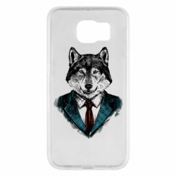 Чехол для Samsung S6 Wolf in costume