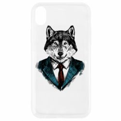 Чехол для iPhone XR Wolf in costume