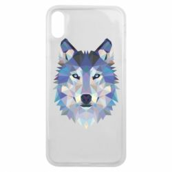 Чехол для iPhone Xs Max Wolf is a vector