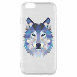 Чехол для iPhone 6/6S Wolf is a vector