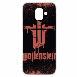 Купить Masha, Чехол для Samsung A6 2018 Wolfenstein red logo, FatLine