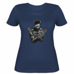 Женская футболка Logan Wolverine vector