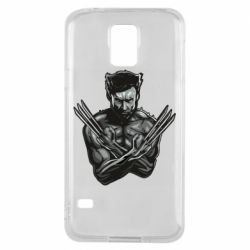 Чехол для Samsung S5 Logan Wolverine vector