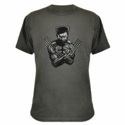 Камуфляжная футболка Logan Wolverine vector