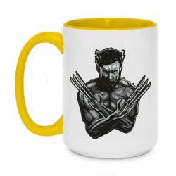 Кружка двухцветная 420ml Logan Wolverine vector