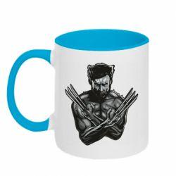 Кружка двухцветная 320ml Logan Wolverine vector