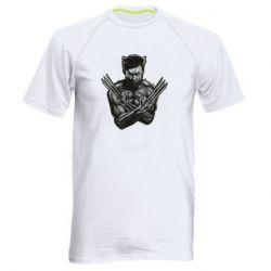 Мужская спортивная футболка Logan Wolverine vector