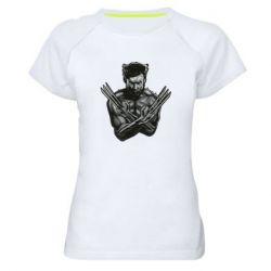 Женская спортивная футболка Logan Wolverine vector