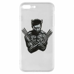Чехол для iPhone 7 Plus Logan Wolverine vector