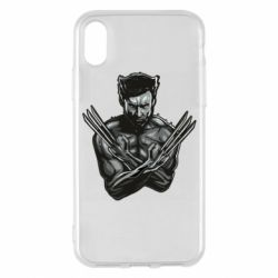 Чехол для iPhone X/Xs Logan Wolverine vector