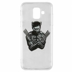 Чехол для Samsung A6 2018 Logan Wolverine vector