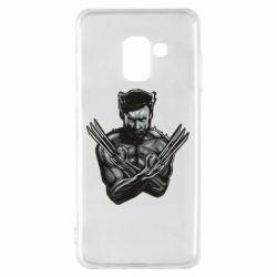 Чехол для Samsung A8 2018 Logan Wolverine vector