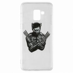 Чехол для Samsung A8+ 2018 Logan Wolverine vector