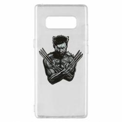 Чехол для Samsung Note 8 Logan Wolverine vector