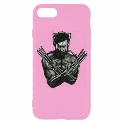 Чехол для iPhone 8 Logan Wolverine vector