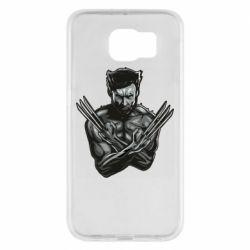 Чехол для Samsung S6 Logan Wolverine vector