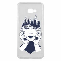 Чехол для Samsung J4 Plus 2018 Woman's head and mountains
