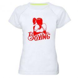Женская спортивная футболка Women's Boxing