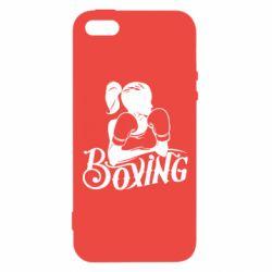 Купить Бокс/Кикбоксинг, Чехол для iPhone5/5S/SE Women's Boxing, FatLine
