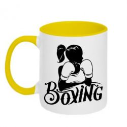 Кружка двухцветная Women's Boxing