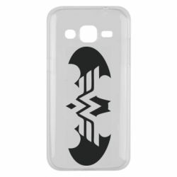 Чохол для Samsung J2 2015 Wonder woman and batman logo