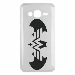 Чохол для Samsung J3 2016 Wonder woman and batman logo
