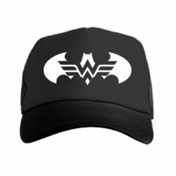 Кепка-тракер Wonder woman and batman logo