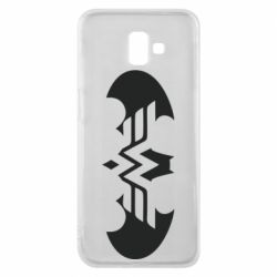 Чохол для Samsung J6 Plus 2018 Wonder woman and batman logo
