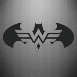 Наклейка Wonder woman and batman logo