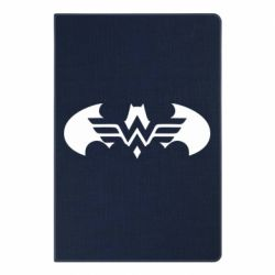 Блокнот А5 Wonder woman and batman logo