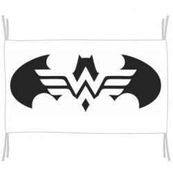 Прапор Wonder woman and batman logo
