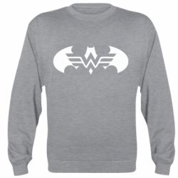 Реглан (світшот) Wonder woman and batman logo