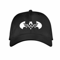 Дитяча кепка Wonder woman and batman logo